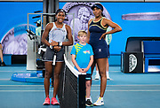 Coco Gauff of the United States and Venus Williams of the United States before their first round match at the 2020 Australian Open, WTA Grand Slam tennis tournament on January 20, 2020 at Melbourne Park in Melbourne, Australia - Photo Rob Prange / Spain ProSportsImages / DPPI / ProSportsImages / DPPI