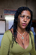 Ivaneti de Araújo, leader of the Downtown Roofless Movement (MSTC) gives an interview.