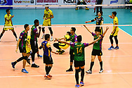 BANGKOK, THAILAND - MARCH 19: Air Force VC reaction during the 2016–17 Men's Volleyball Thailand League Championship, Chantarubeksa Air Force Stadium, Bangkok, Thailand on March 19, 2017.<br /> .<br /> .<br /> .<br /> (Photo by: Naratip Golf Srisupab/SEALs Sports Images)<br /> .<br /> Any image use must include a mandatory credit line adjacent to the content which should read: Naratip Golf Srisupab/SEALs Sports Images
