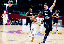 Dennis Schroder of Germany vs Nando de Colo of France during basketball match between National Teams of Germany and France at Day 10 in Round of 16 of the FIBA EuroBasket 2017 at Sinan Erdem Dome in Istanbul, Turkey on September 9, 2017. Photo by Vid Ponikvar / Sportida
