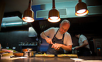 Dublin, Ireland - September 16, 2014: John Wyer of Forest Avenue works in the kitchen. Forest Avenue is making waves in the Dublin food scene with their adventurous take on traditional flavors on their tasting menus. CREDIT: Chris Carmichael for the New York Times