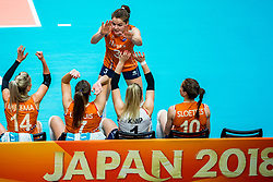 19-10-2018 JPN: Semi Final World Championship Volleyball Women day 18, Yokohama<br /> Serbia - Netherlands / Yvon Belien #3 of Netherlands