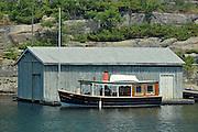 Wooden (antique) boat <br /> Gravenhurst<br /> Ontario<br /> Canada