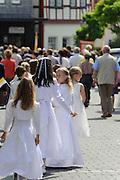 Fronleichnam Prozession, Walldürn, Odenwald, Baden-Württemberg, Deutschland | Corpus Christi procession, pilgrimage Basilica of St. George, Walldürn, Odenwald, Baden-Württemberg, Germany