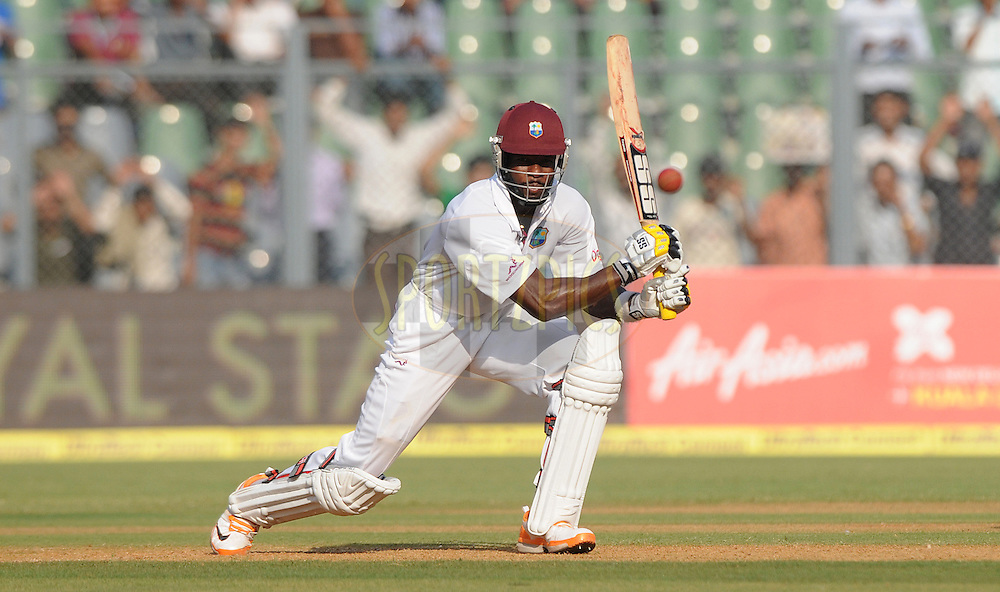Kirk Edwards of West Indies bats during the 1st day of the 3rd test match between India and The West Indies held at Wankhede Stadium in Mumbai, India on the 22nd November 2011..Photo by Pal Pillai/BCCI/SPORTZPICS.