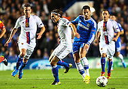 Picture by Daniel Chesterton/Focus Images Ltd +44 7966 018899<br /> 18/09/2013<br /> Eden Hazard of Chelsea under pressure from FC Basel defenders during the UEFA Champions League match at Stamford Bridge, London.
