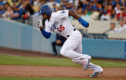 June 10, 2017 - Los Angeles, California, U.S. - Los Angeles Dodgers' Yasiel Puig in the second inning of a Major League baseball game against the Cincinnati Reds at Dodger Stadium on Saturday, June 10, 2017 in Los Angeles. (Photo by Keith Birmingham, Pasadena Star-News/SCNG) (Credit Image: © San Gabriel Valley Tribune via ZUMA Wire)