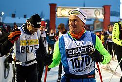 06-03-2016 SWE: Vasaloppet Challenge BvdGF day 7, Sälen<br /> Vandaag een rustig dagje, 90 km langlaufen van Sälen naar Mora in bizarre omstandigheden / Peter, Marco