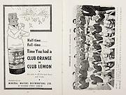All Ireland Senior Hurling Championship Final, .Brochures, .23.09.1956, 09.23.1956, 23rd September 1956,.Wexford 2-14, Cork 2-8,.Minor Kilkenny v Tipperary, .Senior Cork v Wexford,.Croke Park,..Advertisements, Club Orange or Club Lemon Mineral Waters Distributors,