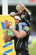 Exeter Chiefs Geoff Parling Lock (5) thanks the crowd after winning the game 18-16 during the Aviva Premiership semi final match between Exeter Chiefs and Saracens at Sandy Park, Exeter, United Kingdom on 20 May 2017. Photo by Gary Learmonth.