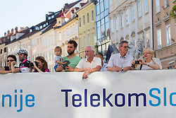 Spectators during Stage 1of  cycling race 20th Tour de Slovenie 2013 - Time Trial 8,8 km in Ljubljana,  on June 12, 2013 in Slovenia. (Photo By Vid Ponikvar / Sportida)