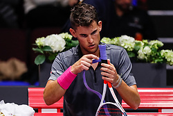 September 22, 2018 - Saint Petersburg, Russia - Dominic Thiem of Austria during his St. Petersburg Open 2018 semi final tennis match against Roberto Bautista Agut of Spain on September 22, 2018 in Saint Petersburg, Russia. (Credit Image: © Mike Kireev/NurPhoto/ZUMA Press)
