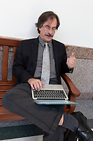 Cyrus Reed, Sierra Club Lobbyist working at Capitol