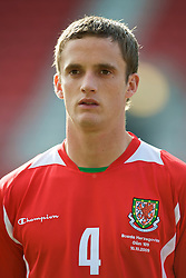 WREXHAM, WALES - Saturday, October 10, 2009: Wales' Andy King before the UEFA Under-21 Championship Qualifying Round Group 3 match against Bosnia-Herzegovina at the Racecourse Ground. (Pic by Chris Brunskill/Propaganda)