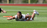 Photo: Chris Ratcliffe.<br />England Training Session. FIFA World Cup 2006. 29/06/2006.<br />Rio Ferdinand in training.