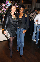 Left to right, MARTINE McCUTCHEON and CAROLINE CHIKEZIE at a party to celebrate the launch of Gumball 3000 - a rally of 1000 miles through Europe from London to Belgrade followed by all 120 cars being transported for adventures in Thailand and the USA.  The party was held at The Trafalgar Hotel, Trafalgar Square, London on 29th April 2006.<br /><br />NON EXCLUSIVE - WORLD RIGHTS