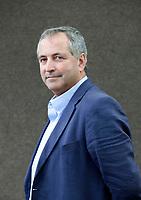A portrait of Daniel Franklin at the Edinburgh International Book Festival 2012 in Charlotte Square Gardens<br /> <br /> Pic by Pako Mera
