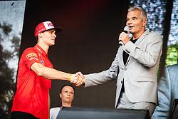 Tim Gajser and Sasa Arsenovic mayor of Maribor shaking hands during sprejem Tima Gajsreja, on Avgust 27, 2019 in Maribor, Slovenia. Photo by Blaž Weindorfer / Sportida