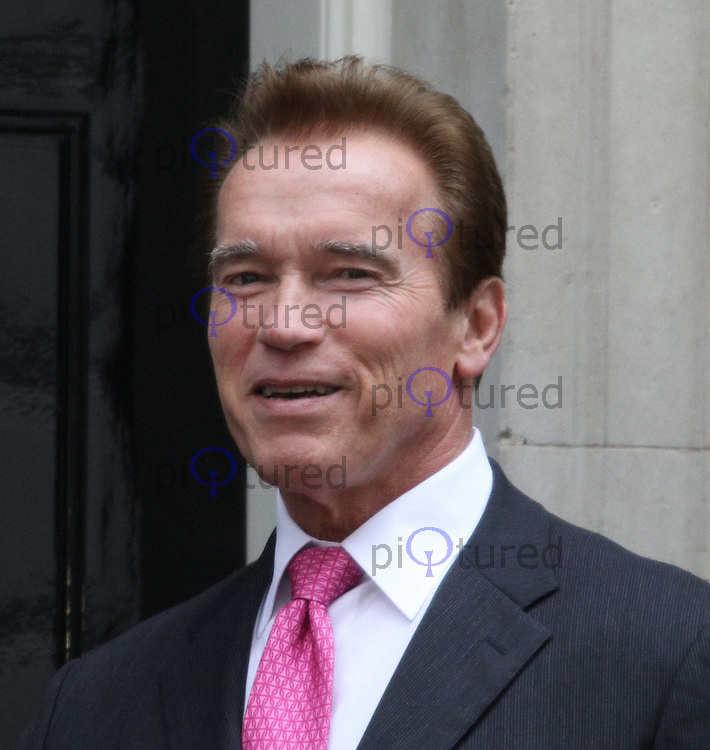 Prime Minister David Cameron meets the Governor of California Arnold Schwarzenegger in Downing Street, Whitehall, London, UK, 14 October  2010:  For piQtured Sales contact: Ian@Piqtured.com +44(0)791 626 2580 (Picture by Richard Goldschmidt)