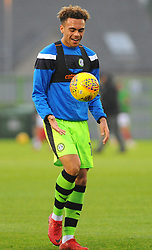 Jordan Simpson of Forest Green Rovers warms up -Mandatory by-line: Nizaam Jones/JMP - 18/11/2017 - FOOTBALL - New Lawn Stadium - Nailsworth, England - Forest Green Rovers v Crewe Alexandre-Sky Bet League Two