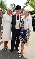 Left to right, SIR ANTHONY & LADY BAMFORD and their daughter ALICE BAMFORD at the 2nd day of the 2013 Royal Ascot Horseracing festival at Ascot Racecourse, Ascot, Berkshire on 19th June 2013.
