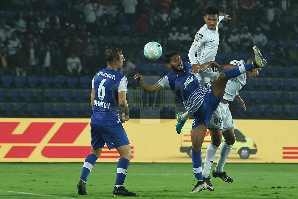 Subhasish Bose of Bengaluru FC in action during match 19 of the Hero Indian Super League between NorthEast United FC and Bengaluru FC held at the Indira Gandhi Athletic Stadium, Guwahati India on the 8th December 2017<br /> <br /> Photo by: Deepak Malik  / ISL / SPORTZPICS