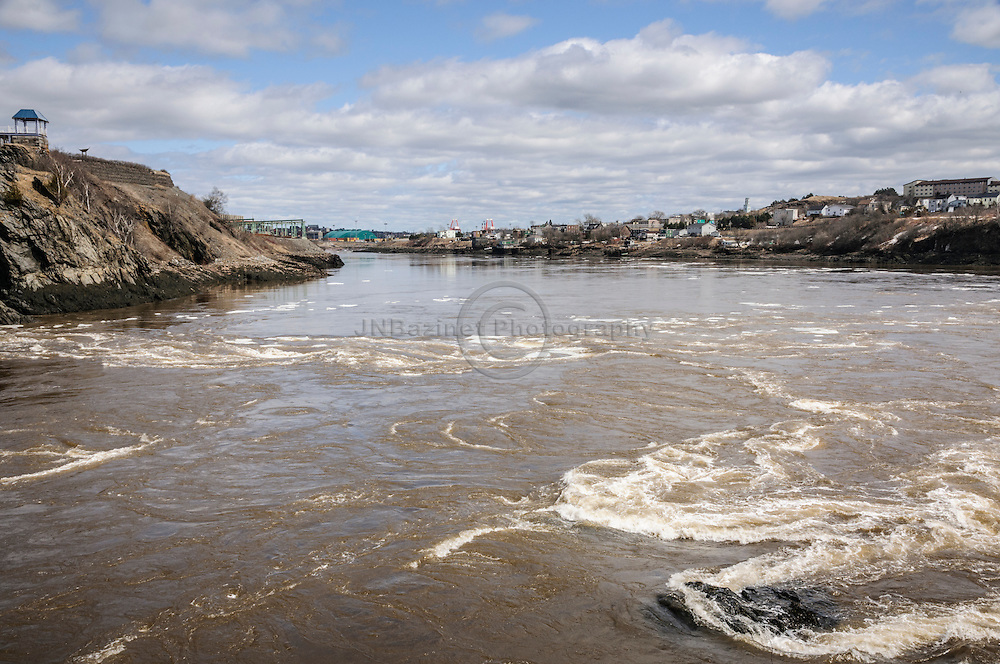 Reversing falls on St-John river, New Brunswick Canada