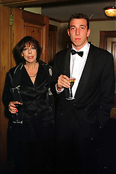 Actress FRANCES DE LA TOUR and her son MR JOSH KEMPINSKI, at a party in London on 24th November 1999.MZH 40