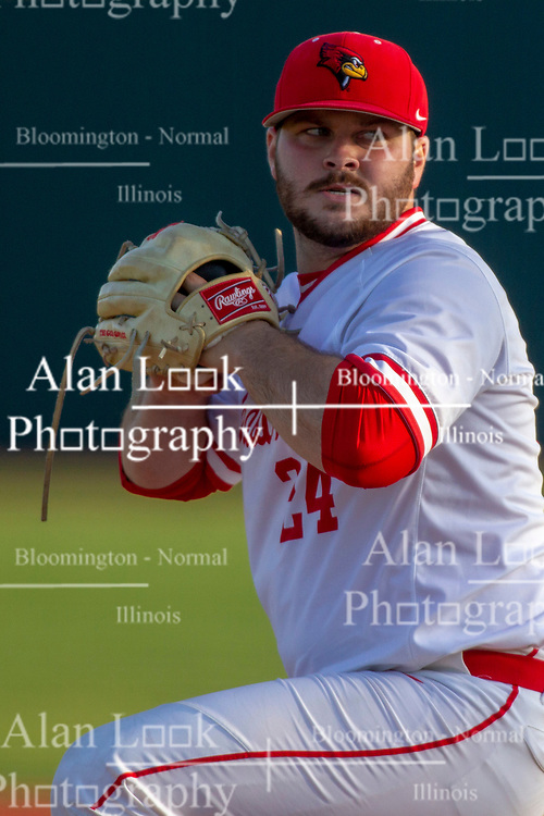 NORMAL, IL - April 08: Mitch Vogrin during a college baseball game between the ISU Redbirds  and the Sacramento State Hornets on April 08 2019 at Duffy Bass Field in Normal, IL. (Photo by Alan Look)