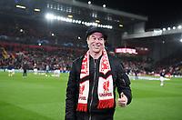FUSSBALL CHAMPIONS LEAGUE SAISON 2018/2019 ACHTELFINAL HINSPIEL FC Liverpool - FC Bayern Muenchen          19.02.2019 Tote Hosen Saenger Campino im Anfield Stadion