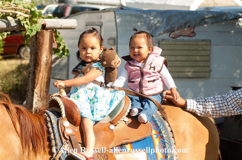 Kids, Crow Fair, horses, Crow Indian Reservation, Montana