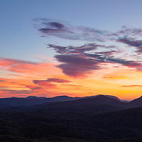 Beautiful sunrise from Rhodes Big View Overlook, near Cashiers, North Carolina