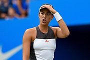 Garbine Muguruza of Spain buries a call during the Aegon Classic Birmingham at Edgbaston Priory Club, Edgbaston, United Kingdom on 24 June 2017. Photo by Martin Cole.