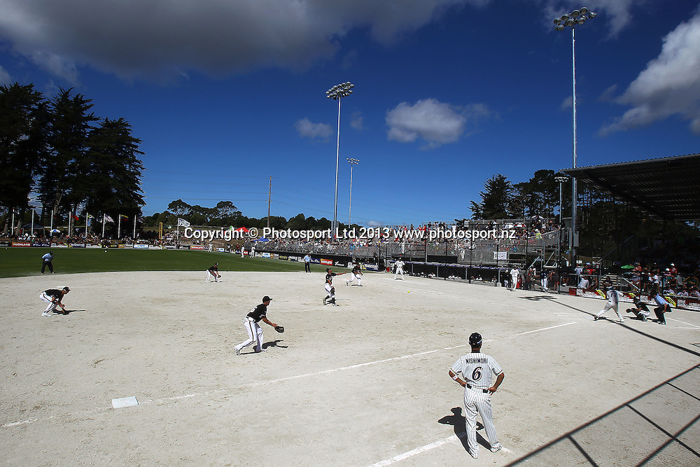 General view. 2013 ISF Mens World Softball Championship, Pool Match, New Zealand Black Sox v Japan, Rosedale Park, Albany, New Zealand. Sunday 3rd March 2013. Photo: Anthony Au-Yeung / photosport.co.nz