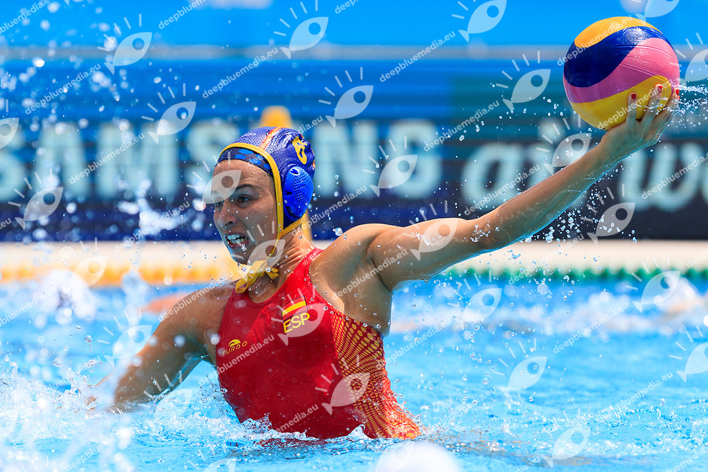 Jelena Lloret Gomez of Spain<br /> New Zealand (White cap) vs Spain (Blue Cap) Water Polo - Preliminary round<br /> Day 03 16/07/2017 <br /> XVII FINA World Championships Aquatics<br /> Alfred Hajos Complex Margaret Island  <br /> Budapest Hungary July 15th - 30th 2017 <br /> Photo @Marcelterbals/Deepbluemedia/Insidefoto Photo @Marcelterbals/Deepbluemedia/Insidefoto