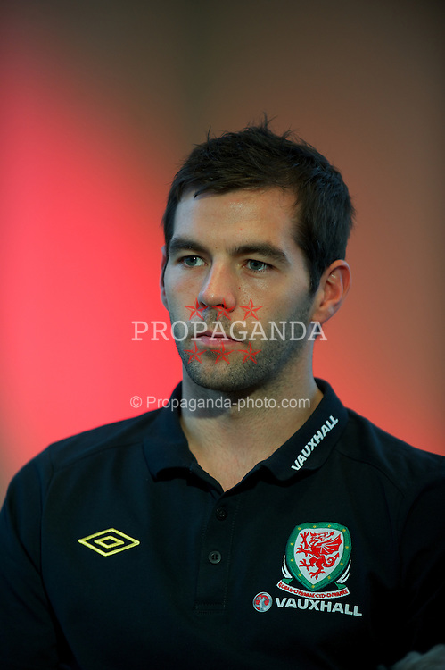 CARDIFF, WALES - Wednesday, November 9, 2011: Wales' Joe Ledley during a media session at the St. David's Hotel ahead of the friendly match against Norway. (Pic by David Rawcliffe/Propaganda)