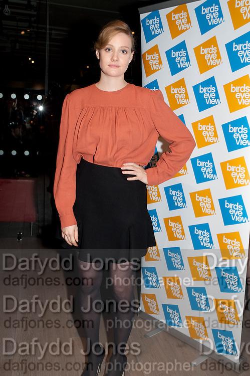 ROMOLA GARAI, BIRDS EYE VIEW INTERNATIONAL WOMEN'S DAY  RECEPTION, BFI Southbank. London. 8 March 2012.