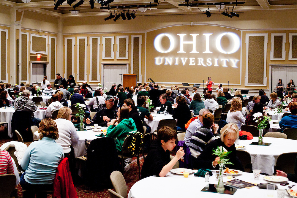 OU parents having breakfest and having fun