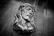 Metal Jesus door ornament, Hvar, Croatia (August 2007)