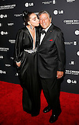 Tony Bennett smiles as Lady Gaga kisses him on the cheek during the red carpet arrivals at the Tony Bennett & Lady Gaga: Cheek to Cheek LIVE! performance, sponsored by LG Electronics, at Jazz at Lincoln Center, on Monday, July 28, 2014 in New York. (Photo by Stuart Ramson/Invision for LG Electronics/AP Images)