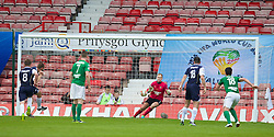 WREXHAM, WALES - Saturday, May 3, 2014: Aberystwyth Town's goalkeeper Mike Lewis is beaten by The New Saints' Greg Draper from the penalty spot to make the score 1-2 during the Welsh Cup Final at the Racecourse Ground. (Pic by David Rawcliffe/Propaganda)