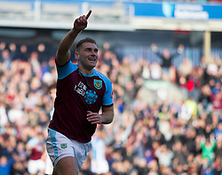 Sam Vokes of Burnley celebrates after scoring his sides first goal - Mandatory by-line: Jack Phillips/JMP - 06/10/2018 - FOOTBALL - Turf Moor - Burnley, England - Burnley v Huddersfield Town - English Premier League