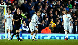 Samu Saiz of Leeds United cuts a frustrated figure after his side concede a second goal to Derby County - Mandatory by-line: Robbie Stephenson/JMP - 31/10/2017 - FOOTBALL - Elland Road - Leeds, England - Leeds United v Derby County - Sky Bet Championship