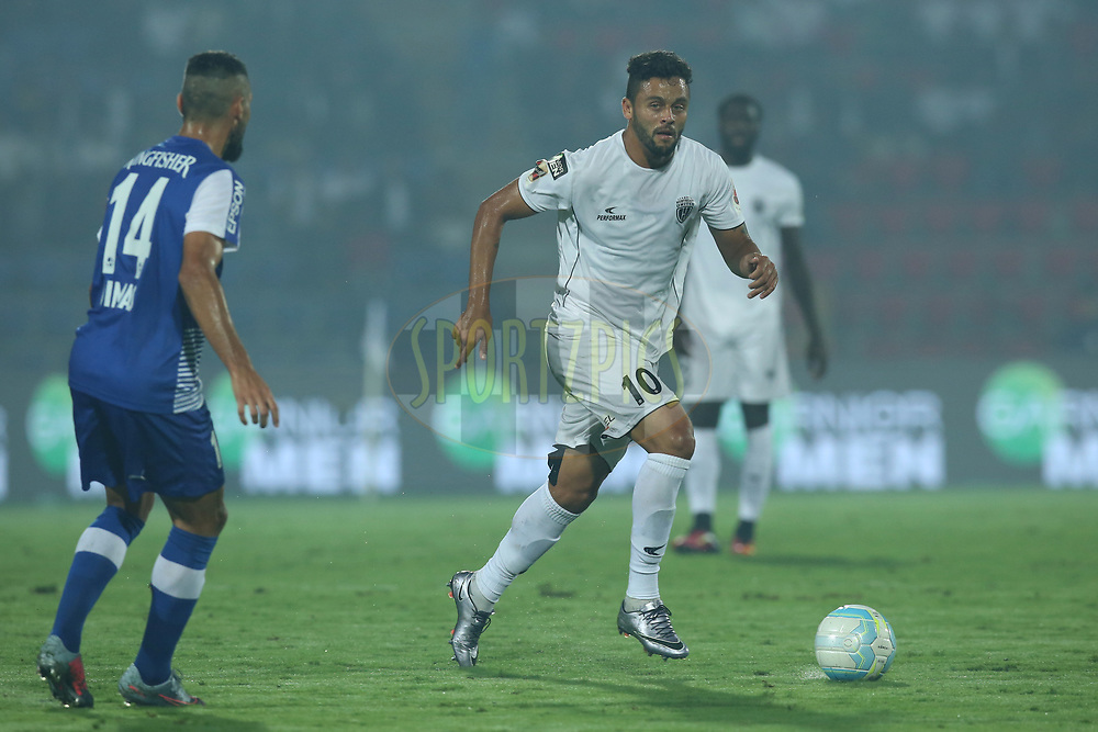 Marcio de Souza GregÛrio J˙nior of Northeast United FC in action during match 19 of the Hero Indian Super League between NorthEast United FC and Bengaluru FC held at the Indira Gandhi Athletic Stadium, Guwahati India on the 8th December 2017<br /> <br /> Photo by: Deepak Malik  / ISL / SPORTZPICS