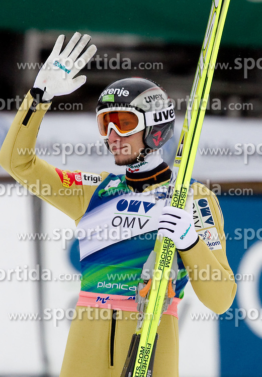 Robert Kranjec of Slovenia during Flying Hill Individual Qualifications at 1st day of FIS Ski Jumping World Cup Finals Planica 2011, on March 17, 2011, Planica, Slovenia. (Photo by Vid Ponikvar / Sportida)