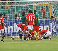 Photo: Steve Bond/Richard Lane Photography.<br /> Egypt v Cameroun. Africa Cup of Nations. 22/01/2008. Mohamed Zidan celebrates his goal
