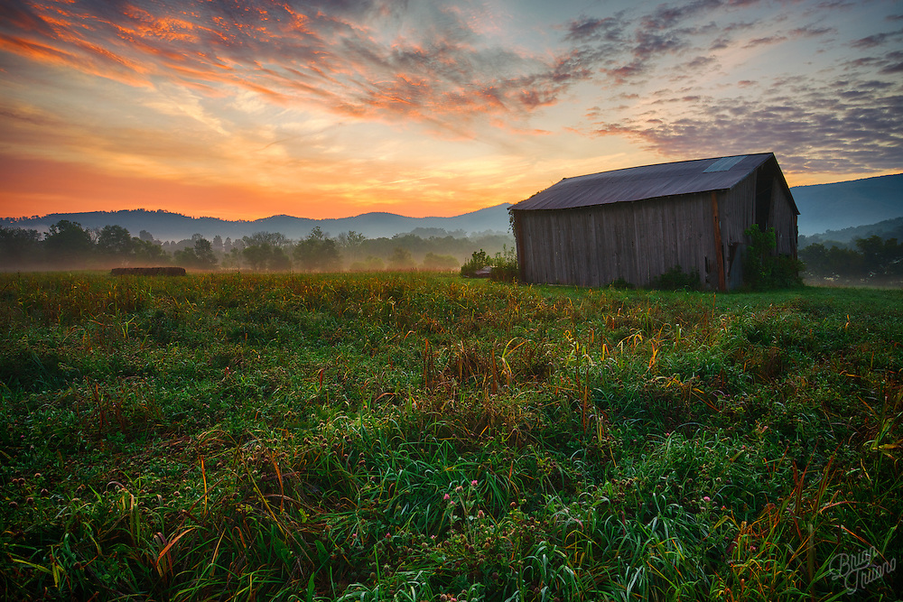The morning light in the foothills of the Great Smoky Mountains in Tennessee.