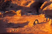 Delicate Arch at sunset in Arches National Park