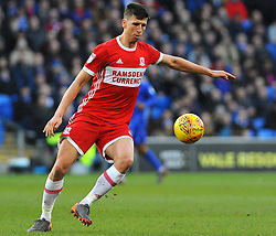 Daniel Ayala of Middlesbrough tries to control the ball - Mandatory by-line: Nizaam Jones/JMP - 17/02/2018 -  FOOTBALL - Cardiff City Stadium - Cardiff, Wales -  Cardiff City v Middlesbrough - Sky Bet Championship