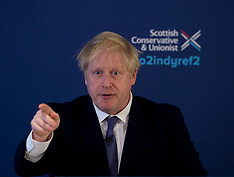 Boris Johnson launches Scottish Conservatives election manifesto, North Queensferry 26 November 2019